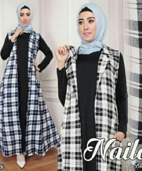 Busana Muslim Trendy Masa Kini Bahan Jersey Super Naila Set