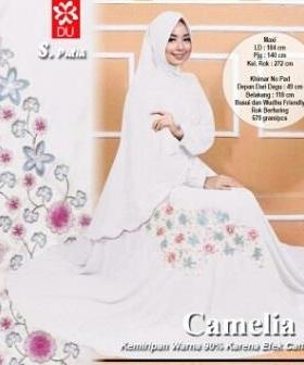 Gamis Busui Bahan Rayon Camelia-2 Syar'i Putih