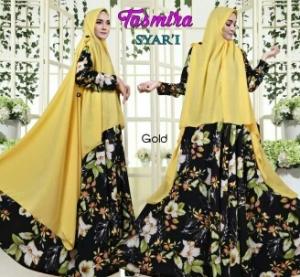 Gamis Busui Cantik Dengan Bahan Bubble pop Tasmira Syar'i Gold
