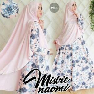 Gamis Cantik Bahan Misbi Naomi Syar'i pink
