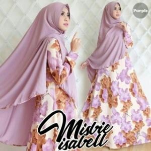 Gamis Cantik Isabell Syar'i Bahan Misbee