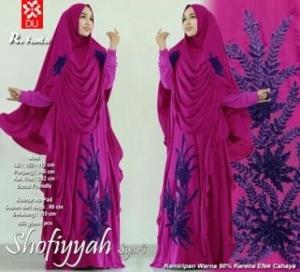Gamis Cantik Terbaru Untuk Pesta Shofiyah Syar'i Fanta