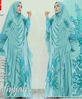 Gamis Cantik Terbaru Untuk Pesta Shofiyah Syar'i Tosca