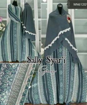 Gamis Muslimah Untuk Pesta Bahan Ceruty Sally Syar'i