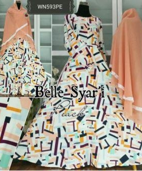 Gamis Syar'i Terbaru Bahan Crepe Belle Syar'i-2