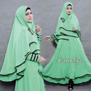 Gamis Syar'i Ukuran Kecil Camelia Hijau