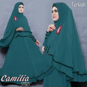Gamis Syar'i Ukuran Kecil Camelia Turkish