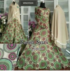 Baju Gamis Cantik Dengan Bahan Crepe Kanisa Syar'i-2