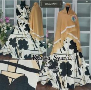Baju Gamis Katun Muslimah Kanya Syar'i-2