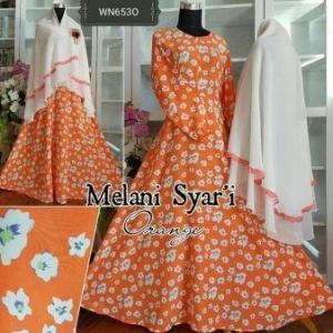 Baju Gamis Terbaru Anggun Melani Syar'i Bahan Maxmara