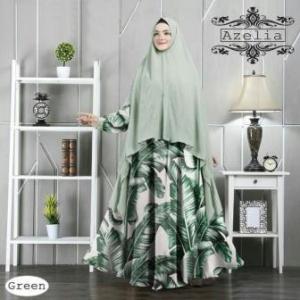 Baju Gamis Terbaru Bahan Royal Satin Azelia