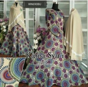 Baju Gamis cantik Dengan Bahan Crepe Kanisa Syar'i-3