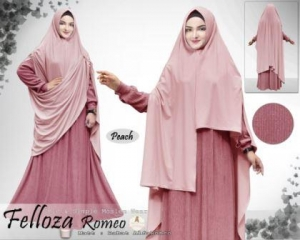 Baju Muslim Ukuran Besar Bahan Alfa Babat Felloza Syar'i Pink