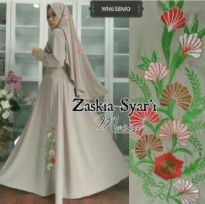Baju Muslim Wanita Terbaru Zaskia Syar'i-3 Anggun Bahan Wolly Crepe