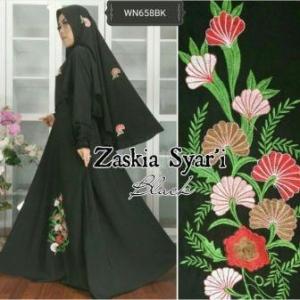 Baju Muslim Wanita Terbaru Zaskia Syar'i-4 Anggun Bahan Wolly Crepe
