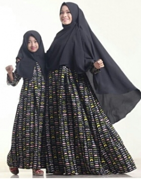 Busana Muslim Anak Rudholvo kids (black) size Medium
