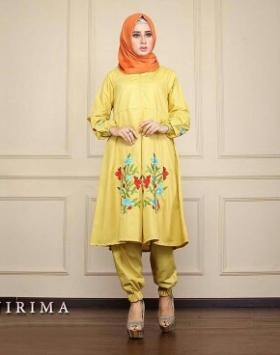 Busana Muslim Trendy Kekinian Bahan Baloteli Nirima Mustard