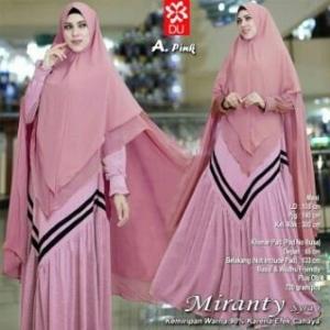 Gamis Busui Bahan Woolpeach Miranty Syar'i Pink Terbaru
