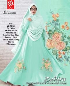 Gamis Muslimah Bahan woolpeach Zahirah Syar'i Tosca