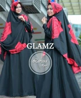 Baju Gamis Cantik Larisa Black Bahan Baloteli