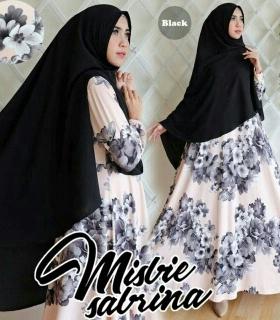 Baju Gamis Cantik Sabrina Syar'i Bahan Misby Import