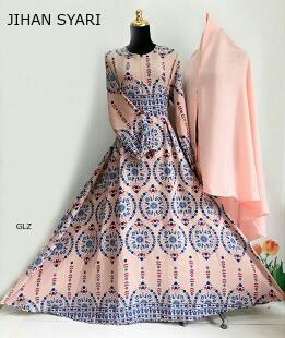 Baju Gamis Jihan Syar'i Peach Dengan Tampilan Cantik dan Mewah