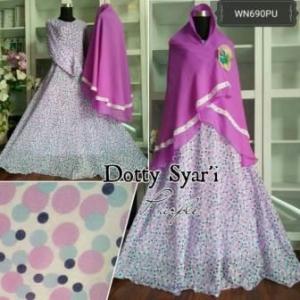 Baju Gamis Muslim Anggun Dotty Syar'i Bahan Ceruty