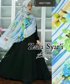 Baju Gamis Terbaru Zalia Syar'i Tosca Bahan Wolly Crepe