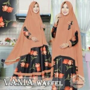 Baju Muslim Dengan Ukuran Besar Vania-3 Bahan Wafel Jacquard