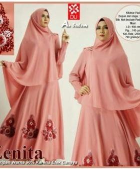 Baju Muslim Wanita Cantik Zenita Syar'i warna Salem Ukuran Kecil