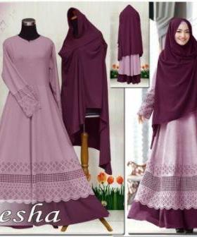 Baju Muslim Wanita Dengan Ukuran Besar Aiesha Syar'i-3 Bahan Maxmara