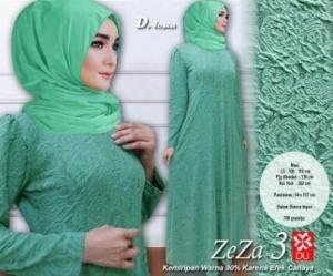 Baju Muslim Wanita Murah Zeza 3 warna Tosca Bahan Bianca Impor