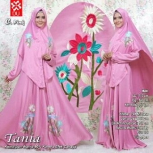 Busana Muslim Lebaran 2017 Tania Syar'i Pink