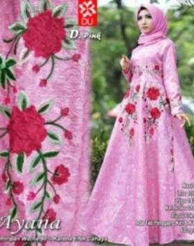 Busana Muslim Modern Ayana Syar'i Pink Bahan Jacquard