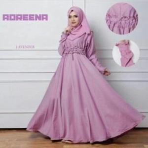 Busana Muslim Murah Dan Elegan Andreena Dusty Pink Dengan Bahan Baloteli