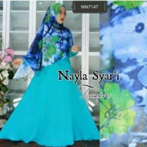Busana Muslim Wanita Terbaru Nayla Syar'i Tosca Bahan Wolly Crepe