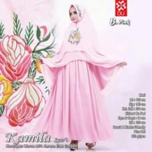 Gamis Cantik Kamila Syar'i Pink Cocok Untuk Pesta