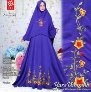 Gamis Cantik elegan Yara Syar'i Ungu Bahan Woolpeach