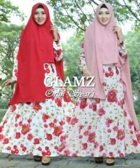 Gamis Murah Orlin Syar'i-2 Bahan Bubble POp