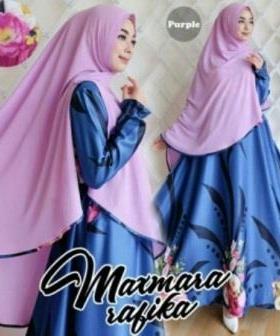 Gamis Muslimah Cantik Rabika Syar'i-1 Bahan Maxmara