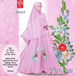 Gamis Muslimah Taniya Syar'i Pink-2 Untuk Lebaran