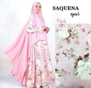 Gamis Online Saquena Syar'i Pink Bahan Baloteli