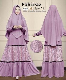 Baju Gamis Terbaru dan Elegan Fahiraz Syar'i Bahan Maxmara