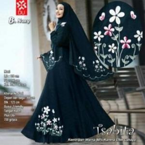 Baju Muslim Terbaru Untuk Wanita Tsabita Syar'i Warna Navy Bahan Woolpeach