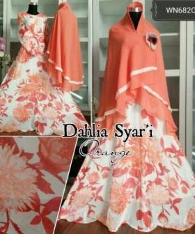 Baju Pesta Muslim Dahlia Syar'i Bahan Chiffon