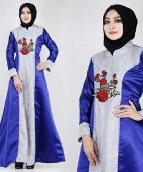 Busana Muslim Modern Keisha Warna Soft Grey Dengan Bahan Jacquard