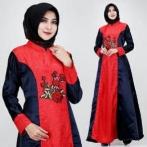 Busana Muslim Modern Keisha warna Black Dengan Bahan Jacquard