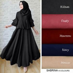 Busana Muslim Modern Mewah Sabrina Bahan Wafle
