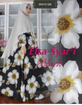 Busana Muslim Pesta Anggun Elsa Syar'i Bahan Ceruty
