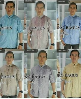 Busana Muslim Pria Baju Koko Bagus Bahan Katun